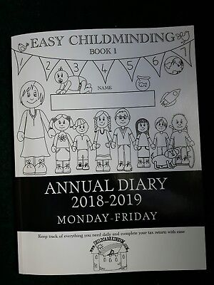 Easy Childminding Annual Diary 2018 - 2019