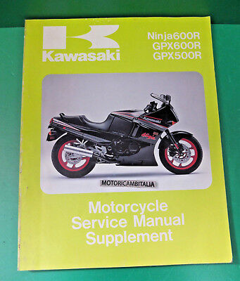 KAWASAKI Ninja 600 R gpx600 manuale officina supplement owner's service manual