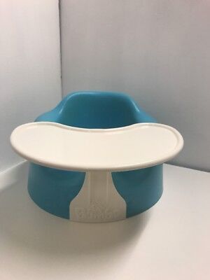 Bumbo Baby Seat, AQUA with play tray,GOOD CONDITION= PERFECT FOR GRANDPARENTS