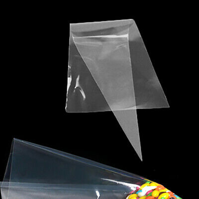 50/100pcs Clear Party Gift Chocolate Sweet Popcorn Candy Cello Bags Cellophane