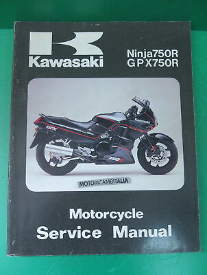KAWASAKI Ninja ZX 750 gpx manuale d'officina riparazione owner's service manual