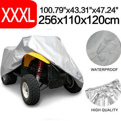XXXL 190T Silver Universal Waterproof Cover Quad ATV Vehicle Scooter Motorbike