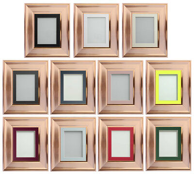 Frame Company Theodore Range Copper Rose Gold Picture Photo Frames with Mount