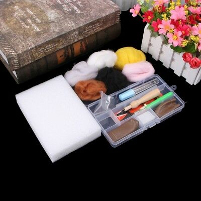 Wool Felt with Needles Felting Handle Mat Set For DIY Craft Home Sewing Tools
