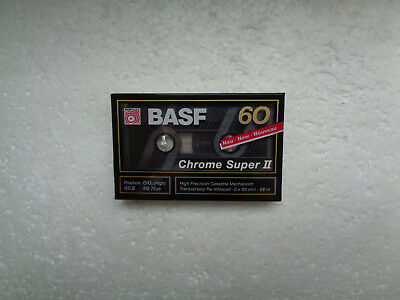 Vintage Audio Cassette BASF Chrome Super 60 * Rare From Germany 1989 *