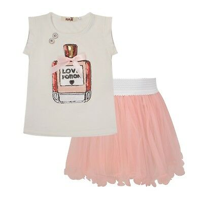 SALE Girls Casual Toddler Pink Sequin Coco TShirt and Tutu Set Ribbon Party Pink