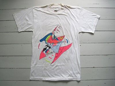 NEU 90er CHAMPION SURFING T-Shirt S Neon True Vintage Festival Hawaii Romantic x