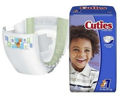 Baby Diaper Cuties TabClosure Size 7 Disposable Heavy Absorbency Case/80