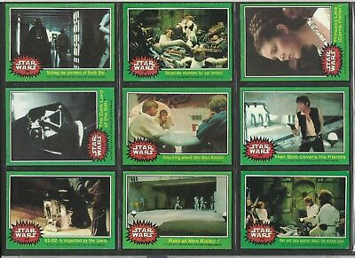 Topps Star Wars Cards Green Back 1977 Choose Your Card