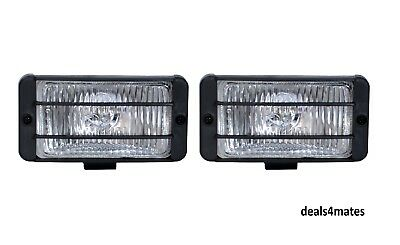"Universal Clear Fog Spot Lights Car Van Pick Up 4X4 Offroad 6"" X 3.4"""