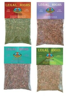 4x Legal Highs 100% Legal 100% Natural Herbal Smoking Blends for Waterpipes Vaps