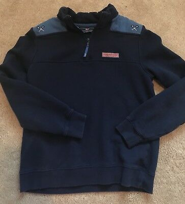 Vineyard Vines Shep Shirt 1/4 Zip Lacrosse Pullover Sweatshirt Sz Youth L Large