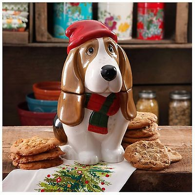 Home Kitchen Holiday Charlie Food Preserve Cookie Jar Fun Dog Decor
