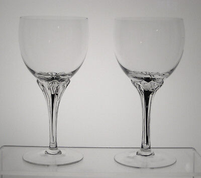 """EXQUISITE BELFOR BOHEMIA Wine or Water Goblets 6 1/2"""", PAIR, Multi Avail"""