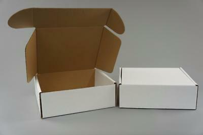 100 White Postal Cardboard Boxes Mailing Shipping Cartons Small Size Parcel OP12