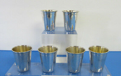 1936 Swedish 830 Silver Liquor Cups / Shot Cups Set of 6 L'Chaim Free Shipping *