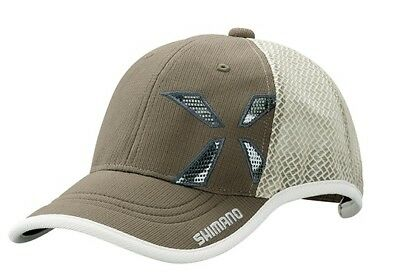 Shimano Xefo Wind-Fit Mesh Cap Cafe Brown Regular Size Basecap Kappe Mütze