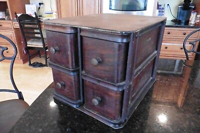Vintage Singer Sewing Machine Wooden Under counter Drawers With Frame 4 drawers