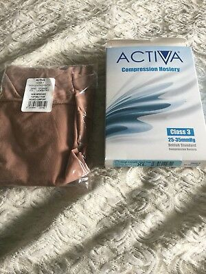 Bnib Pair Activa Class 3 Thigh Length Sand Compression Stockings Size Xl