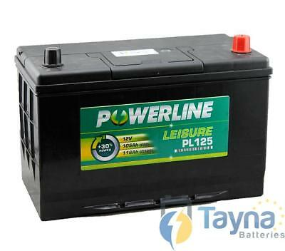 PL125 Powerline Batterie Camping Bateau 12V