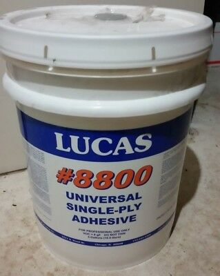 LUCAS #8800 EPDM Rubber Roofing Adhesive  NEW!