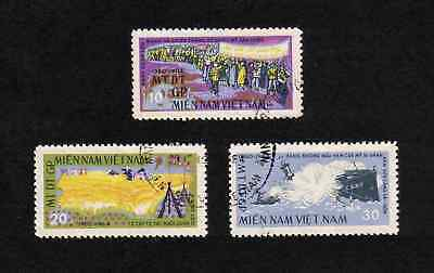 N. Vietnam 1964 National Liberation Front full set of 3v. (SG NLF6-NLF8) used