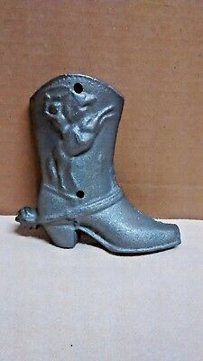 Right Cast Iron COWBOY BOOT Ristic Ranch Western Rodeo Wall Home Decor