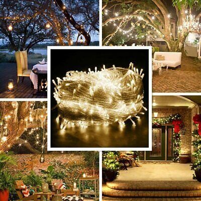 10-500 LED Solar/Battery/Plug Micro Rice Wire Copper Fairy String Lights Party