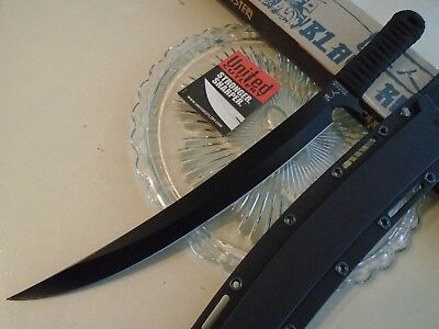 Black Ronin Samurai Scimitar Short Sword Bowie Combat Knife Full Tang UC3155 18""