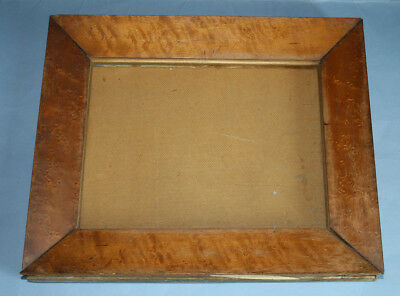 Early Victorian Birds Eye Maple Picture Frame