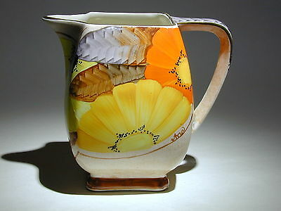 Art Deco Grays Susie Cooper style square jug gilded & hand painted A2112 signed