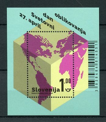 Slovenia 2018 MNH World Design Day 1v M/S Art Stamps