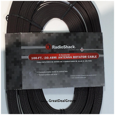 RadioShack 100-ft (30.48) 3-Conductor Outside Antenna Rotator Cable 15-1150