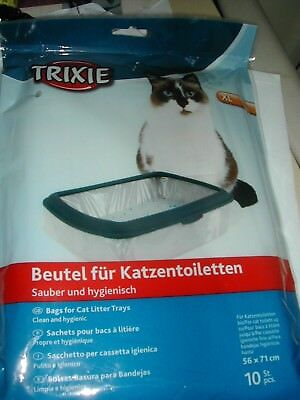 Opened Pack Of Trixie Extra Large Cat Litter Tray Liners   56 X 71 Cm  7 Liners
