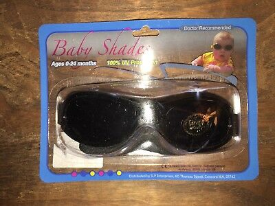 Baby Shades with Strap Sunglasses NIP Black 0-24months