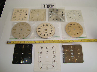 10 Clock Dials Faces Assorted For CLOCKMAKER STEAMPUNK ALTERED ARTS Lot 182