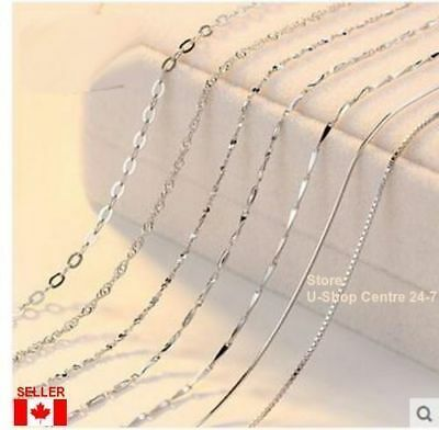 "925 Sterling Silver Quality Jewelry Chain Necklace 1Pc.18 - 30"",1.2-1.6mm Width"