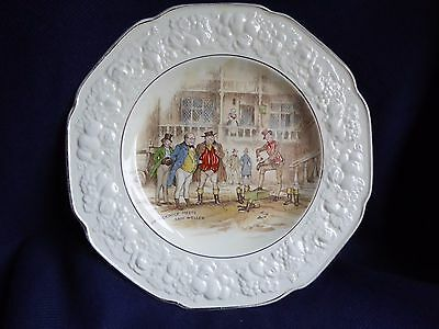 Vintage Crown Ducal Florentine Plate England Mr. Pickwick Sam Weller 26cm 1920s
