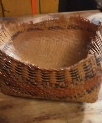 Vintage Chitimacha Indian River Cane Relic Basket Awesome Artifact!!