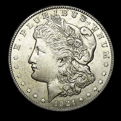 1921 S ~**ABOUT UNCIRCULATED AU**~ Silver Morgan Dollar Rare US Old Coin! #150