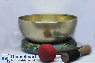 "10"" Root and Om Chakra Anitque Hand Hammered Tibetan Singing Bowl Made in Nepal"