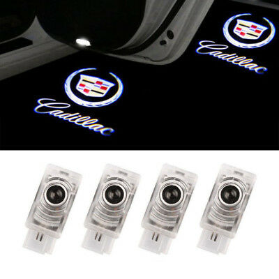 CADILLAC 4x LED Light Logo Projector Emblem Shadow Light Door Welcome Light NEW