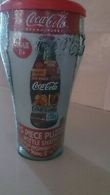 Coca Cola Collectible Glass with Lid and Bottle Shaped Puzzle! SALE!! NEW!