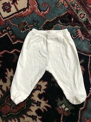 Kissy Kissy Baby Organic Pima Cotton Footed Pants Cream 0-3 Months