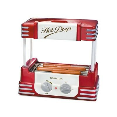 Hot Dog Roller Grill Warmer Steamer Electric Rotating Sausage Cooker Machine New