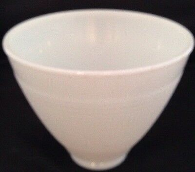 Vintage White Milk Glass Torchiere Light Shade Waffle Pattern