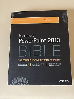 Microsoft PowerPoint 2013 Bible Book Excellent Condition, Never Used
