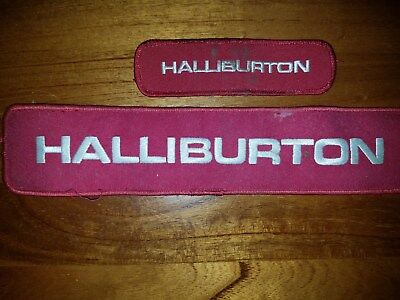 Halliburton Oil Field Patches Free Shipping