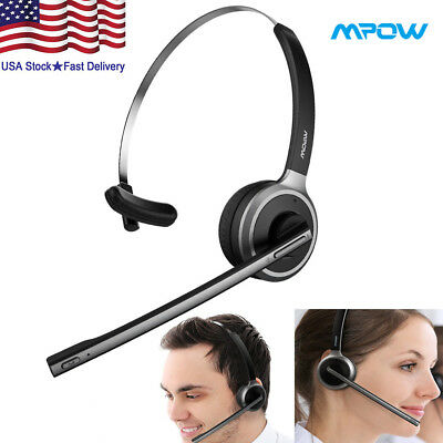 21c83c44831 Trucker Driver Over The Head Boom Wireless Bluetooth Headset Mic  Noise-Canceling