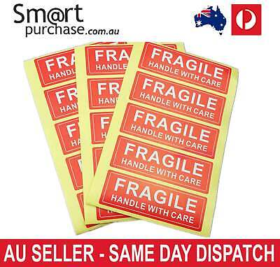 X10 X20 X50 X100 FRAGILE Handle With Care Label Sticker Red and White Delivery Q